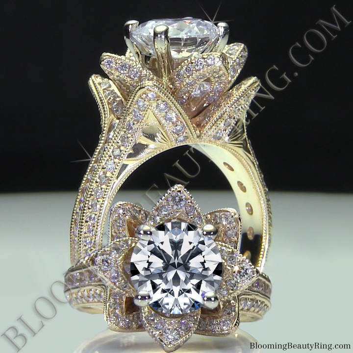 the blooming beauty ring collection unique engagement rings by blooming beauty jewelry design. Black Bedroom Furniture Sets. Home Design Ideas