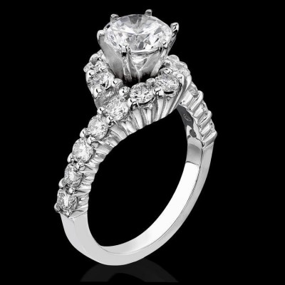1.25 ctw. Perfectly Designed Twist and Loop Setting with Endless Diamonds and 6 Secure Prongs